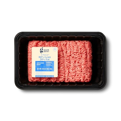 All Natural 80/20 Ground Beef - 2lbs - Good & Gather™