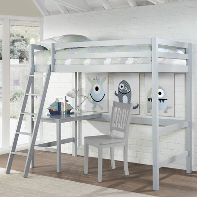 Kids' Twin Caspian Study Loft Gray - Hillsdale Furniture