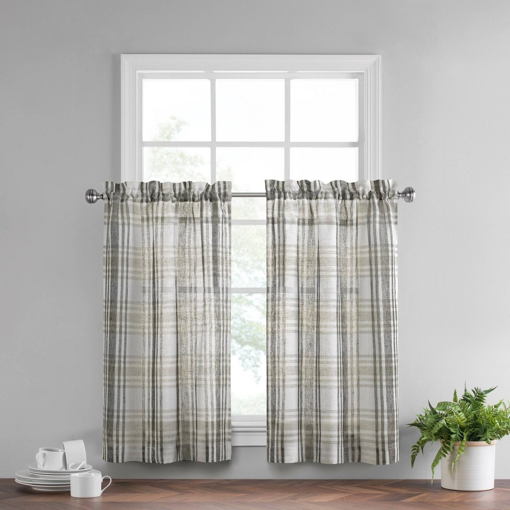 Set Of 2 45 34 X52 34 Featherdown Curtain Tiers Gray Vue