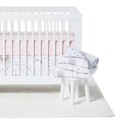Sweet Jojo Designs Crib Bedding Set - Celestial - 11pc Pink/Gold