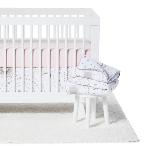 Sweet Jojo Designs Crib Bedding Set Celestial 11pc Pink Gold