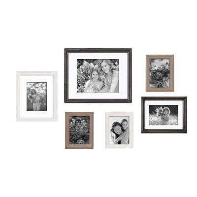 6pc Bordeaux Frame Box Set Multi - Kate & Laurel All Things Decor