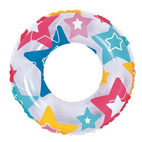 """Pool Central 20"""" Inflatable Star Print Swimming Pool Inner Tube Float - image 1 of 1"""