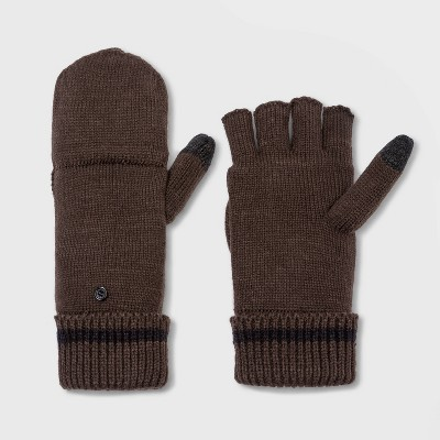 Men's Knit Gloves - Goodfellow & Co™ Brown One Size