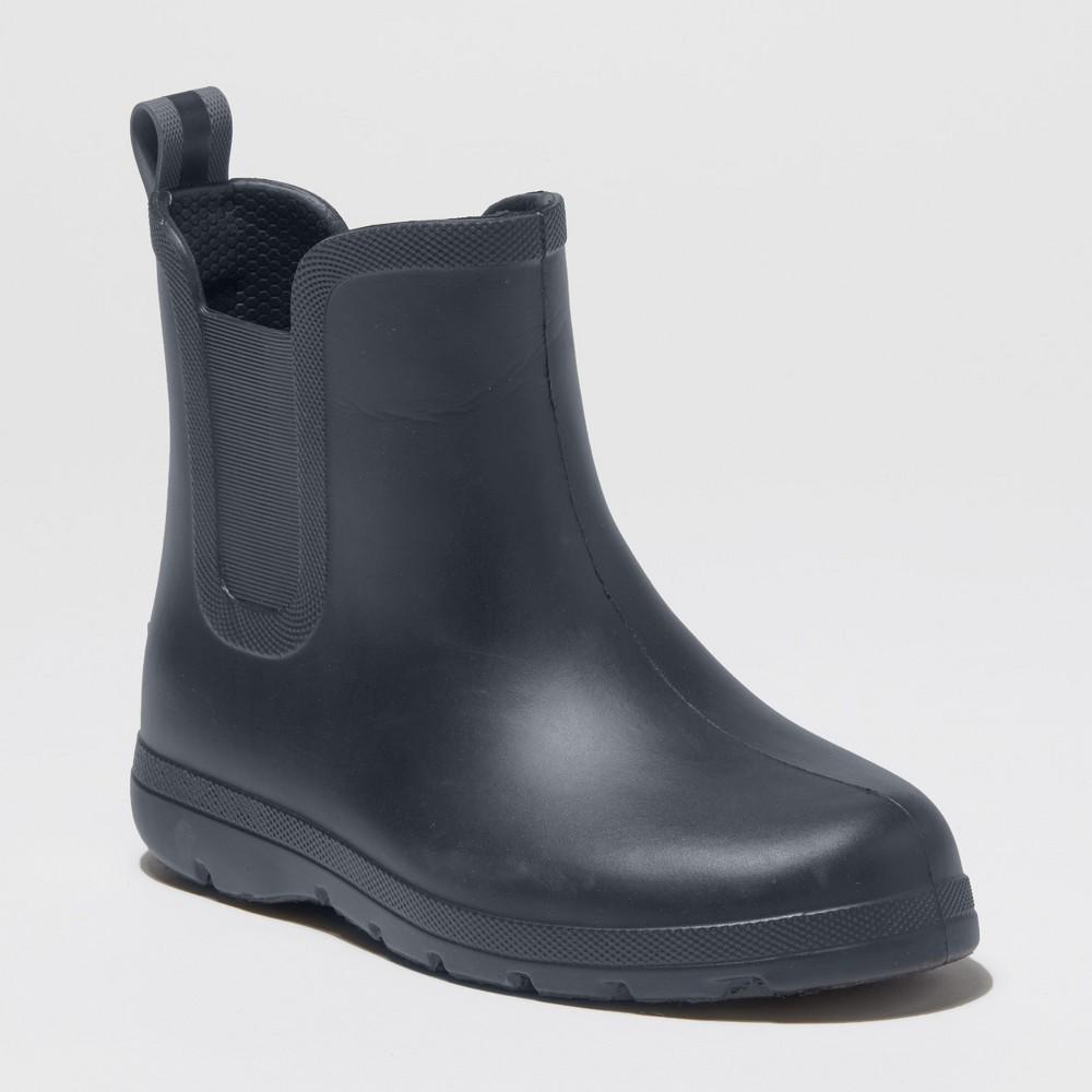 Kid's Totes Cirrus Ankle Rain Boots - Gray 2-3, Kids Unisex
