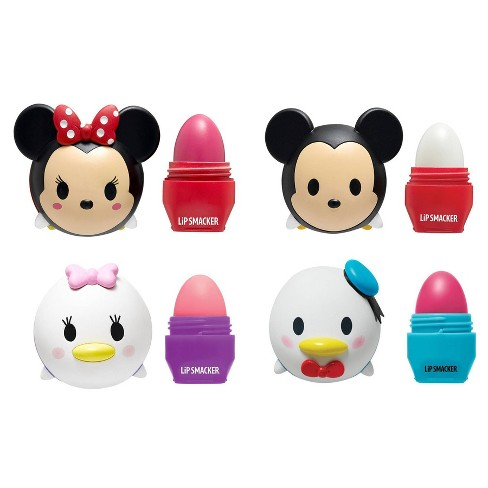 Lip Smacker Disney Tsum Tsum Lip Balm Mickey Minnie Donald and Daisy - 4pc - image 1 of 3