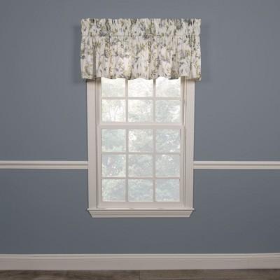 "Ellis Curtain Abigail High Quality Fabric Water Proof Room Darkening Blackout Tailored Window Valance - (80""x15"")"
