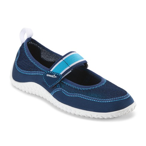 9caf40a9aa50 Speedo Jr Girls Mary Jane Water Shoes - Navy White (Medium)   Target