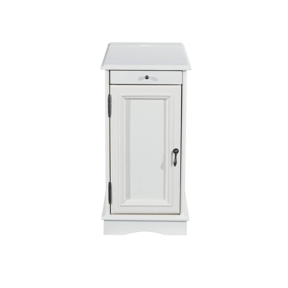 Felix Accent Table with Usb Charging Station White - Powell Company