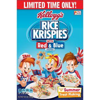 Rice Krispies - Red & Blue Breakfast Cereal - 9.9oz - Kelloggs