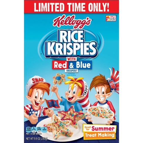 Rice Krispies - Red & Blue Breakfast Cereal - 9.9oz - Kellogg's - image 1 of 5
