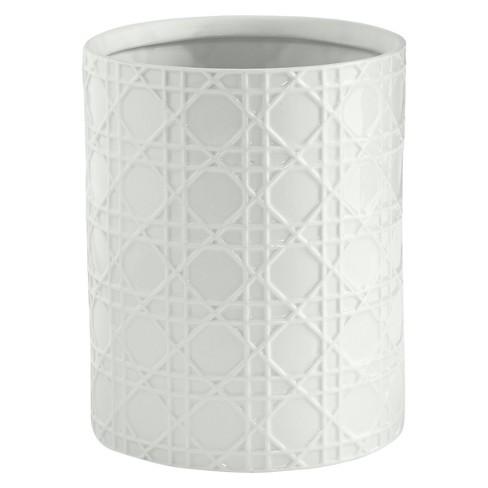 Wicker Wastebasket White - Cassadecor - image 1 of 1