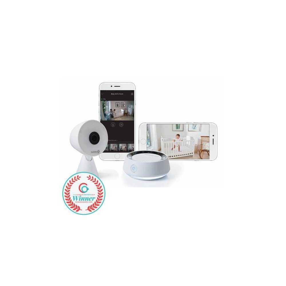 Image of Safety 1st HD Wifi Baby Monitor with Sound & Movement Detecting Audio Unit, White