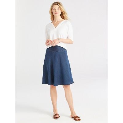 NIC+ZOE Women's Summer Denim Fling Flirt Skirt