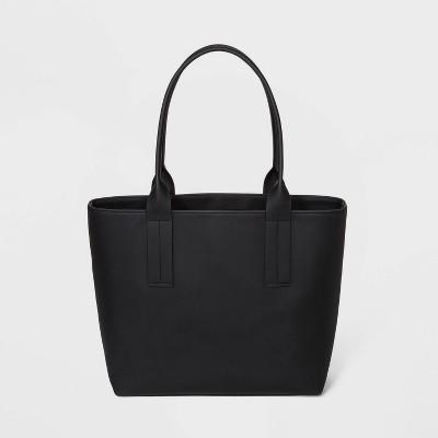 Small Flat Pack with Stuffing Drawstring Closure Tote Handbag - Shade & Shore™ Black