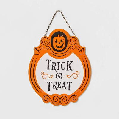 Trick or Treat/Out of Candy Reversible Halloween Wood Sign - Hyde & EEK! Boutique™