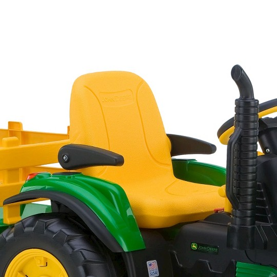 Peg Perego John Deere Ground Force Tractor with Trailer - Green image number null