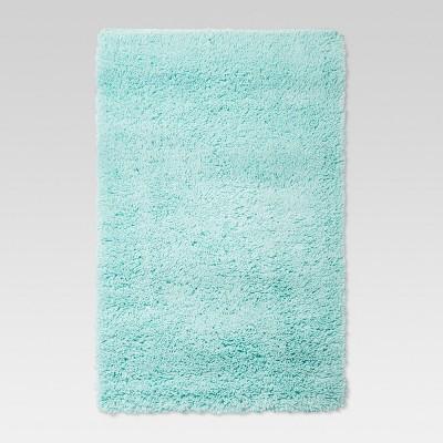 Aqua Plush Shag Area Washable Rug 5'x7' - Room Essentials™
