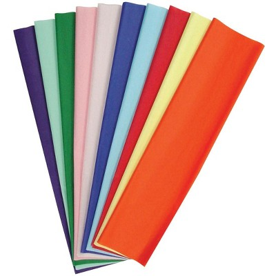 Kolorfast Non-Bleeding Craft Tissue Paper, 20 x 30 Inches, Assorted Colors, pk of 50