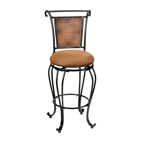 'Milan 30'' Barstool - Metal/Black/Buckskin Hillsdale Furniture, Brown Gray'