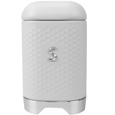 Michael Graves Design Soho Large 7 Cup Capacity Tin Sugar Canister, White