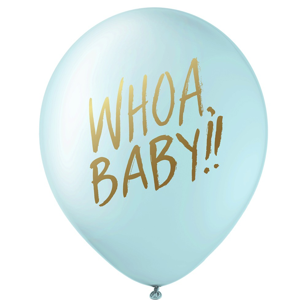 Image of 12ct Designer Baby Shower Balloons Blue