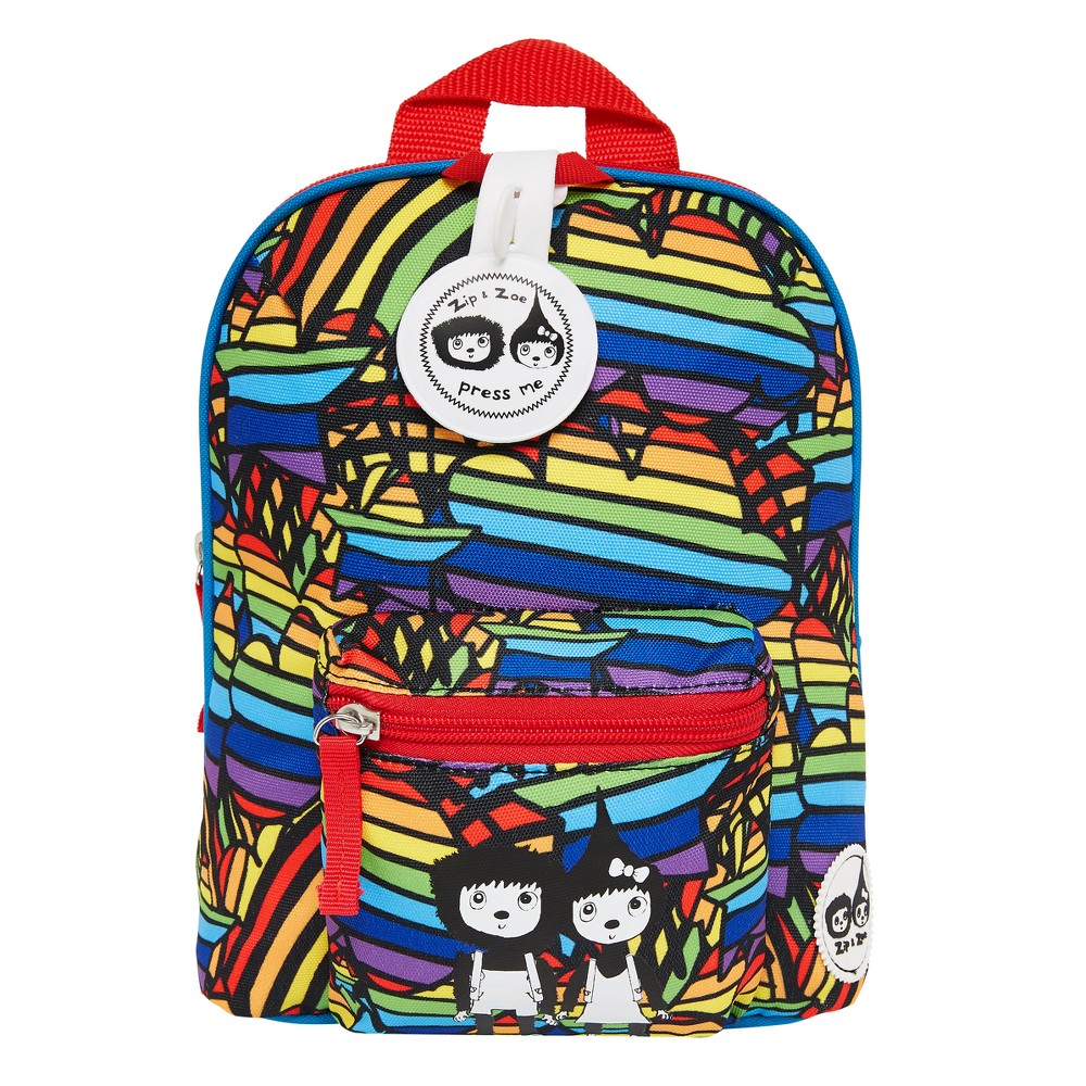 """Image of """"Zip & Zoe Mini 10"""""""" Kids' Backpack & Safety Harness - Rainbow, Kids Unisex, Size: Small, MultiColored"""""""