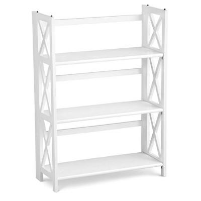 3 Shelf X Design Folding Bookcase - Flora Home