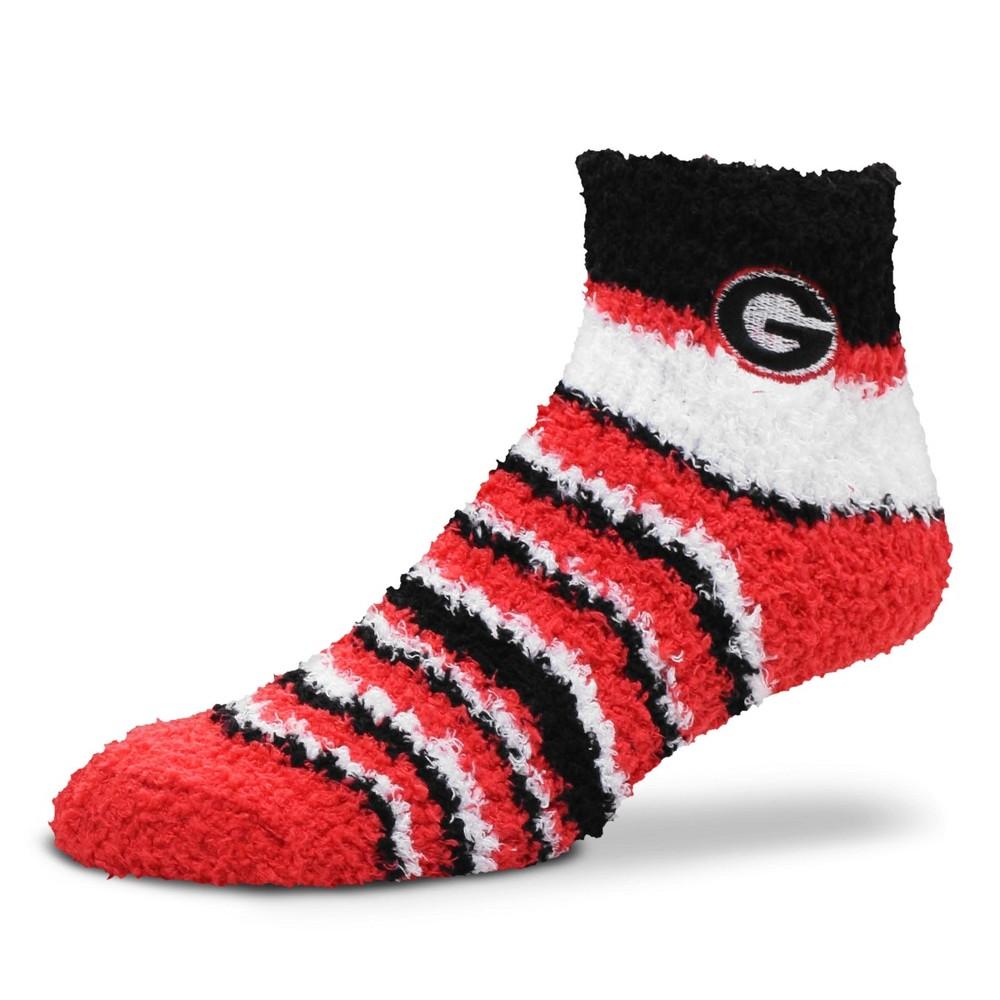 NCAA Georgia Bulldogs Fuzzy Fan Socks M, Women's
