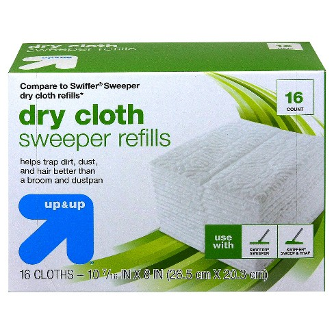 Floor Sweepers Dry Cloths - 16ct - Up&Up™ (Compare to Swiffer® Sweeper dry cloth refills) - image 1 of 1
