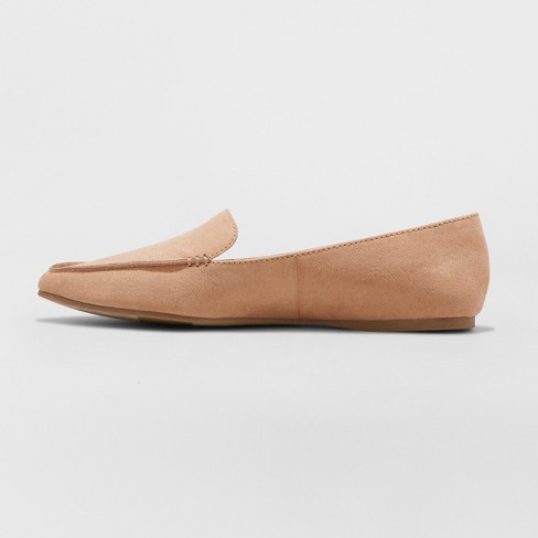 dd07adab004 Women s Micah Wide Width Pointy Toe Loafers - A New Day™ Tan 7.5W   Target