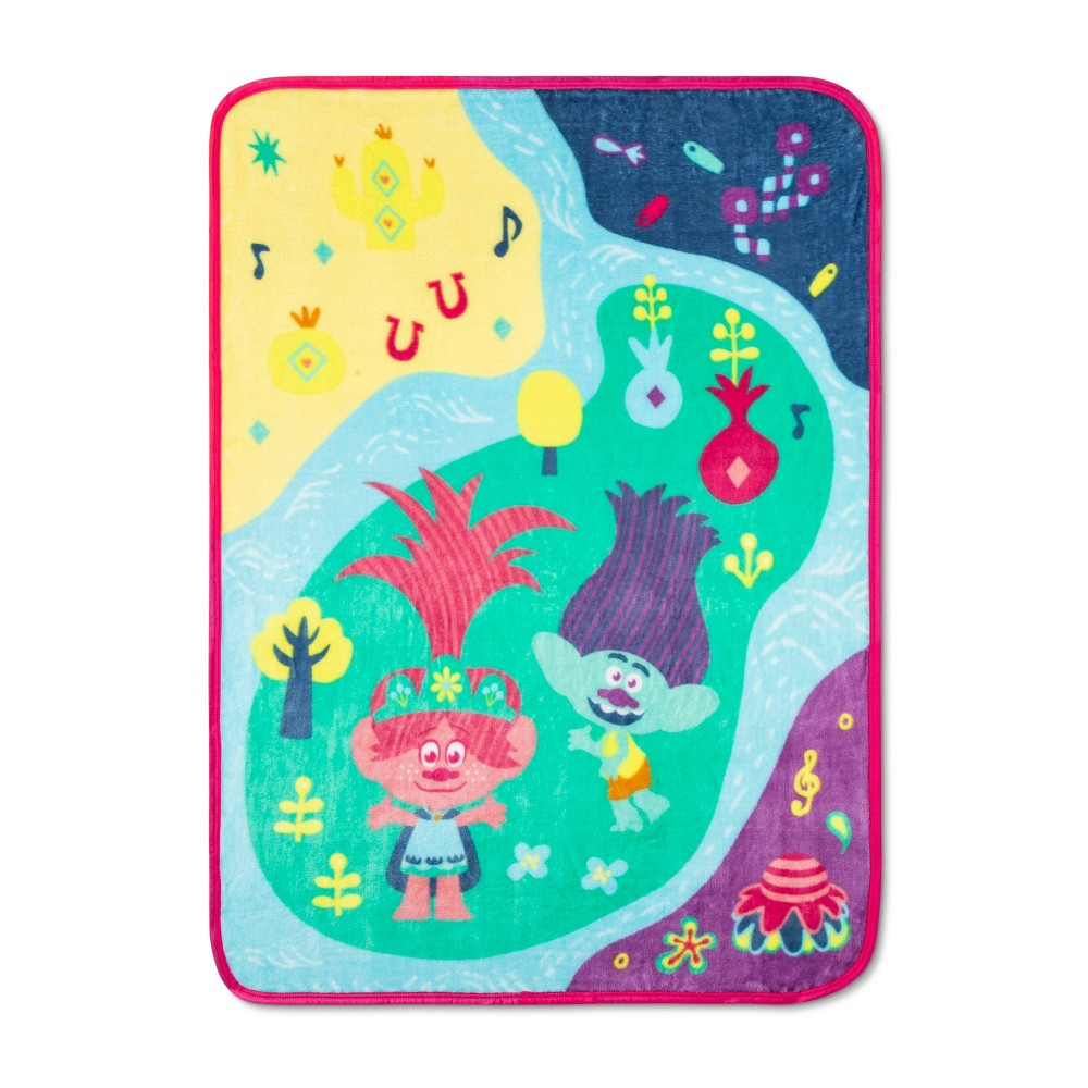 "Image of ""60""""x46"""" Trolls World Tour Rainbow World Throw"""