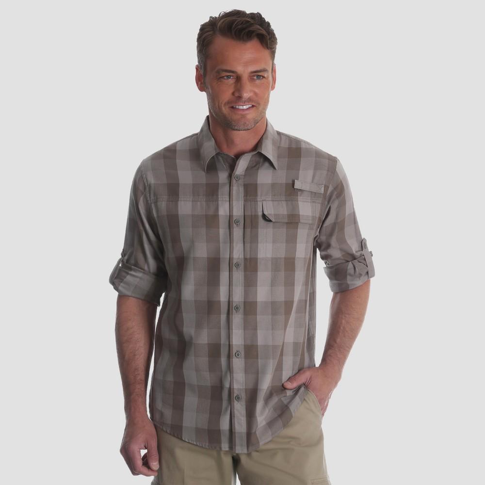 Wrangler Men's Outdoor Long Sleeve Rich Shirt - Light Brown Xxl