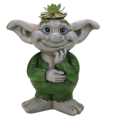 "9.5"" Boy Troll Statue - White - Exhart - image 1 of 1"