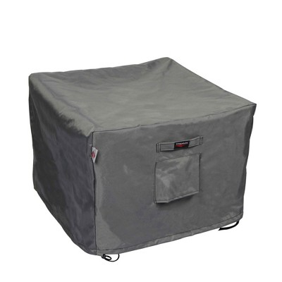 """Shield Titanium 3-Layer Polyester Water Resistant Outdoor Ottoman Cover - 29x26x17"""" Dark Grey"""
