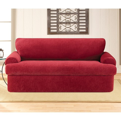 Stretch Pique 3pc T Sofa Slipcover Sure Fit Target
