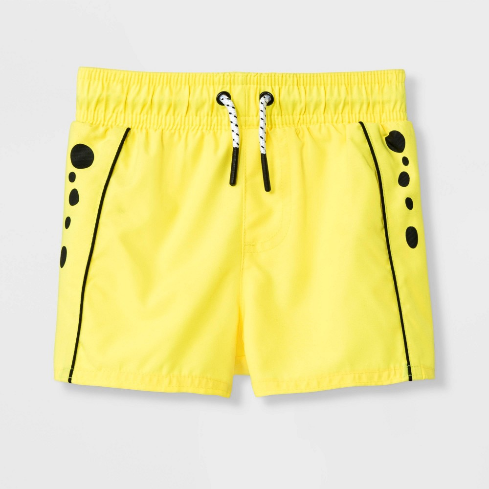 Image of Baby Boys' Cheetah Swim Trunks - Cat & Jack Yellow 9M, Boy's