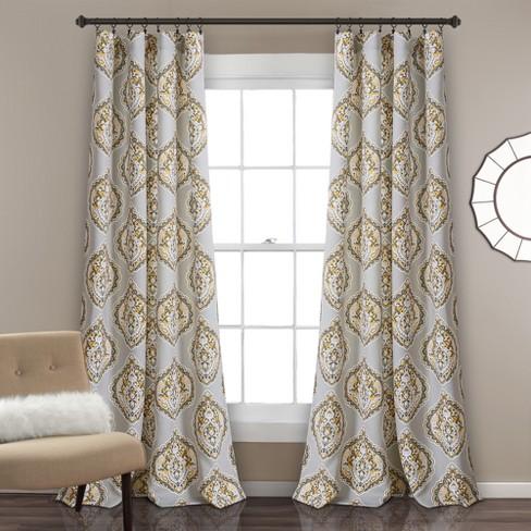 Harley Room Darkening Window Curtain Panels Set 52 X84 Lush Decor