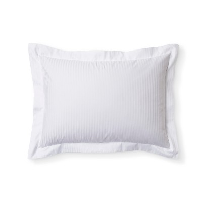 White Damask Stripe Pillow Sham (Standard)- Fieldcrest®
