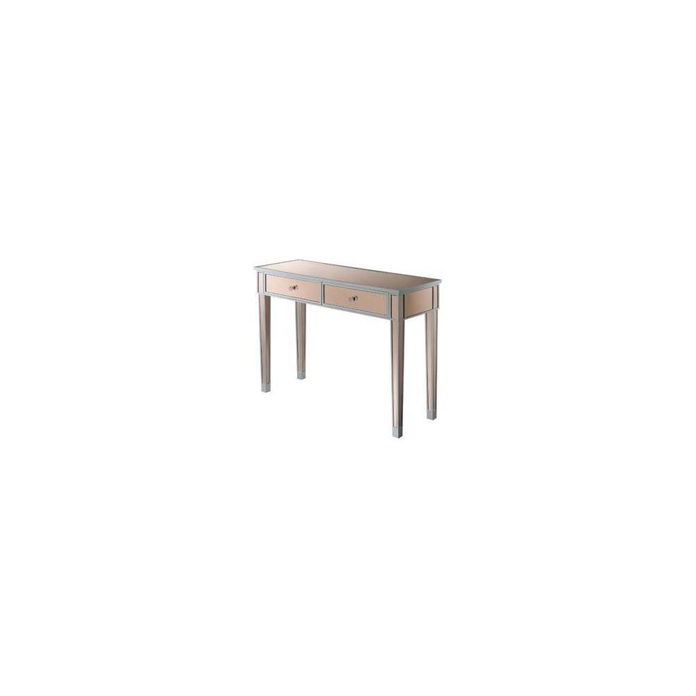 Gold Coast Mirrored Desk Silver/Rose - Johar Furniture Gold Coast Mirrored Desk Silver/Rose - Johar Furniture