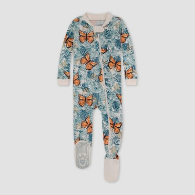 Burt's Bees Baby® Baby Girls' Butterfly Snug Fit Footed Pajama - 3-6M