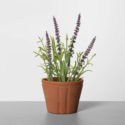 "8"" Faux Lavender Potted Plant - Hearth & Hand™ with Magnolia"