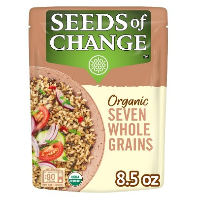 Seeds of Change Organic Seven Whole Grains Rice Mix Microwavable Pouch- 8.5oz