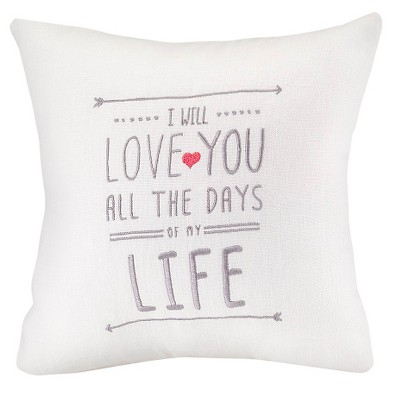 I Will Love You Wedding Throw Pillow