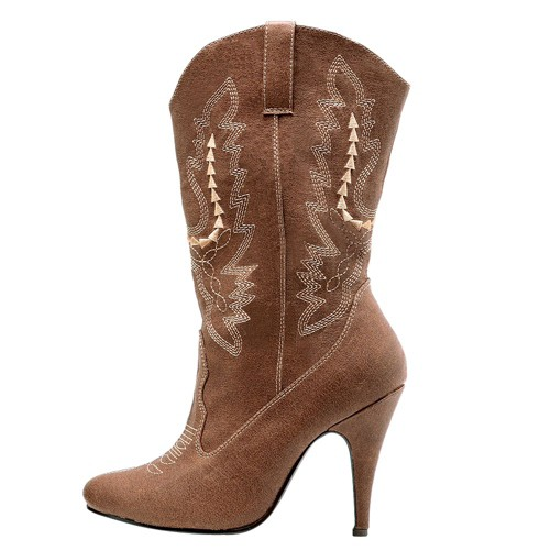 Halloween Adult Cowgirl Boots Brown Size 7 Costume, Women