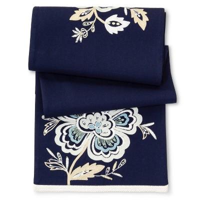 Blue Floral Table Runner (72 )- Threshold™