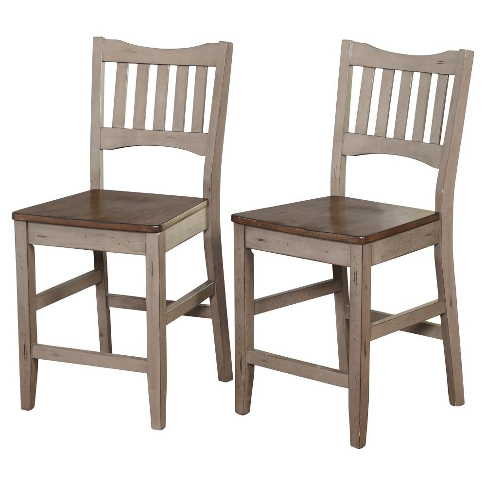 "Image of ""24.6"""" Simon Stool (Set Of 2) - Gray - Target Marketing Systems"""