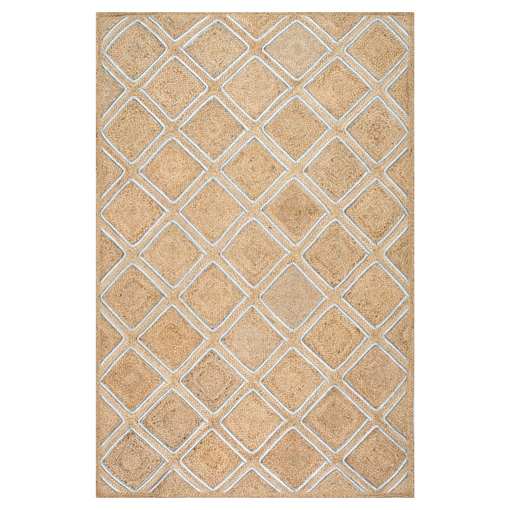 White Solid Loomed Area Rug - (5'x8'), White Beige