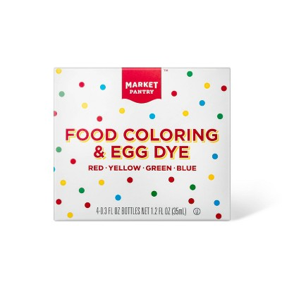 Assorted Food Coloring Bottles - 4pk/1.2oz - Market Pantry™