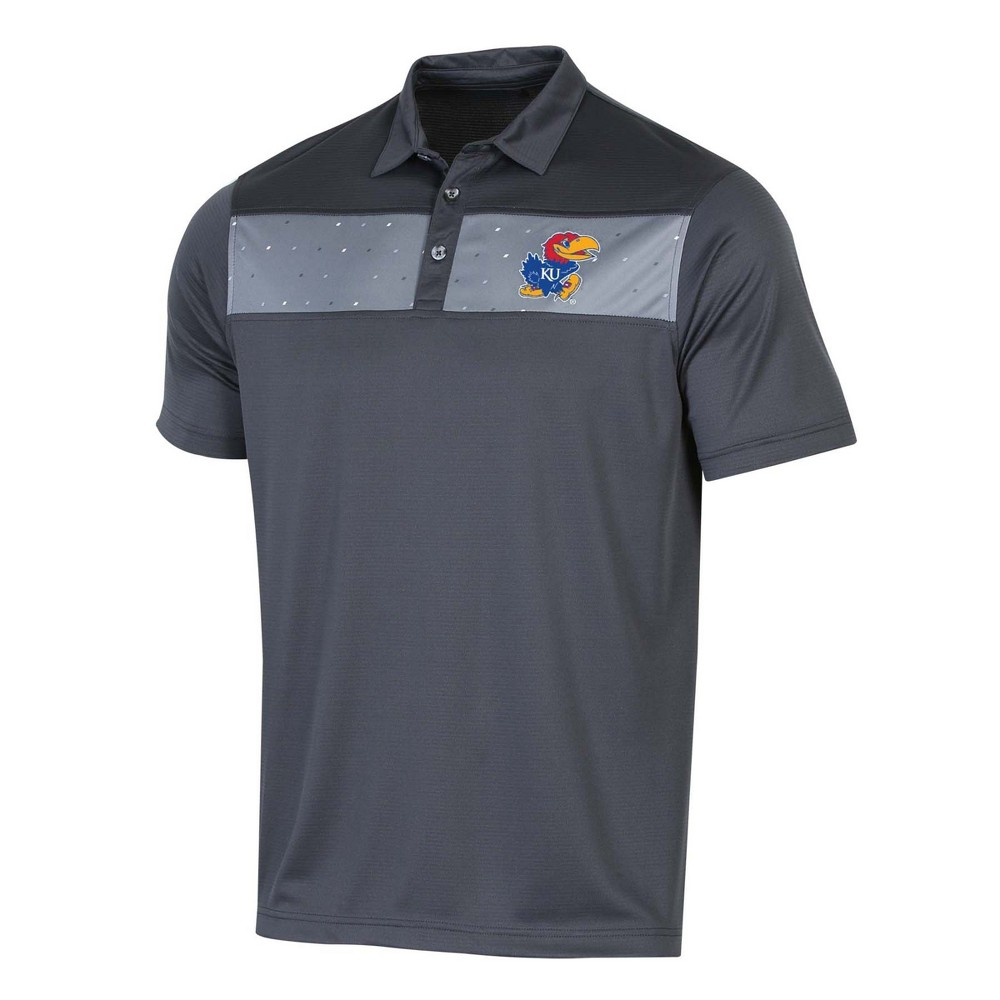 NCAA Men's Short Sleeve Polo Shirt Kansas Jayhawks - S, Multicolored